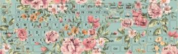 Наклейки декоративные на клавиатуру Букет