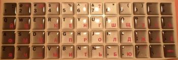 Серебристые с силиконовым покрытием англ./рус. чёрные./розовые