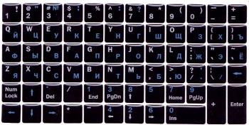 Черные с силиконовым покрытием англ./рус. белые./синие + функциональные