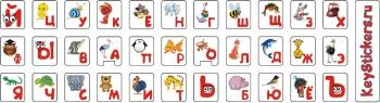 Детские стикеры на клавиатуру
