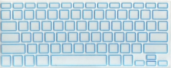 Защитная  плёнка на клавиатуру прозрачная с синей каймой.