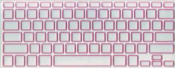 Защитная  плёнка на клавиатуру прозрачная с розовой каймой.
