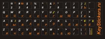 Русские, украинские, английские буквы на клавиатуру.