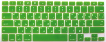 Защитная  плёнка на клавиатуру салатовая с латиницей и кириллицей