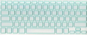 Защитная  плёнка на клавиатуру прозрачная с зелёной каймой.