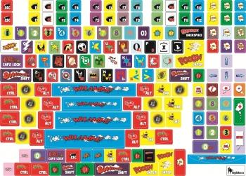 Декоративные наклейки на клавиатуру Супергерои 11*13мм