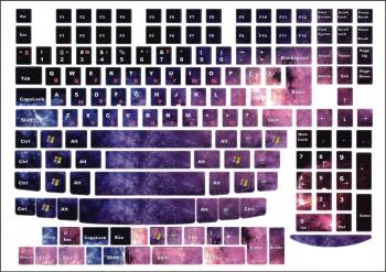 Наклейки декоративные на клавиатуру Космос