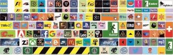 Наклейки декоративные на клавиатуру Logo