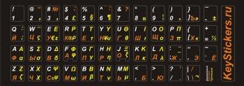 реческий, английский, русский языки на черной основе