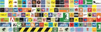 Наклейки декоративные на клавиатуру Logo только английская раскладка