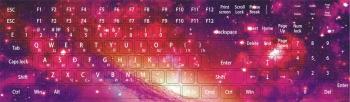 Наклейки декоративные на клавиатуру Космос 3
