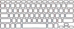 Защитная  плёнка на клавиатуру прозрачная с чёрной каймой.