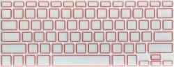 Защитная  плёнка на клавиатуру прозрачная с оранжевой каймой.