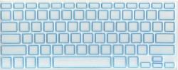 Защитная  плёнка на клавиатуру прозрачная с голубой каймой.
