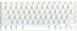 Защитная  плёнка на клавиатуру прозрачная с белой каймой.