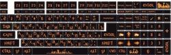 Наклейки декоративные на клавиатуру Огонь
