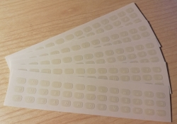 Мини наклейки для мини клавиатур с белыми буквами