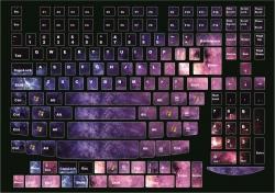 Наклейки декоративные на клавиатуру Космос английская раскладка
