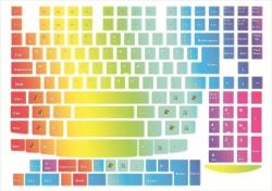Наклейки декоративные на клавиатуру Радуга 2 английская раскладка